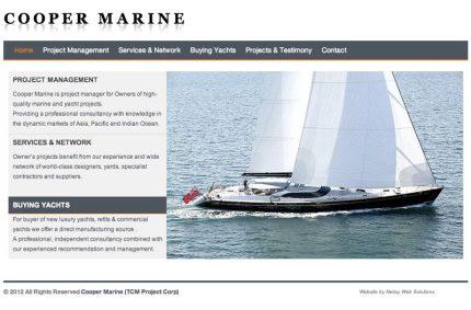 Website for Cooper Marine
