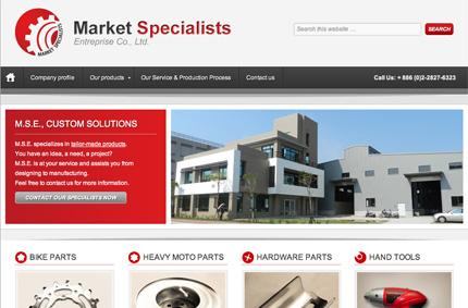 Site internet de Market Specialists