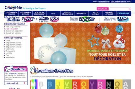 Boutique en ligne Crazyfête