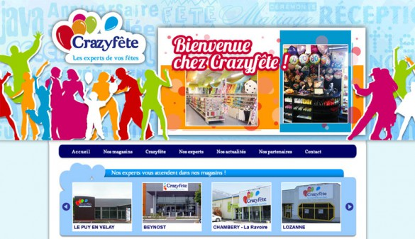 Site internet de Crazyfête