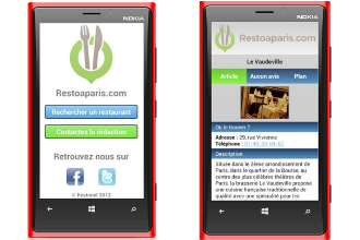 Application Restoaparis.com